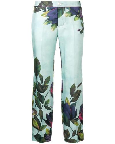 Cropped-Hose mit Blumen
