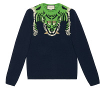 Wool sweater with tiger - men - Wolle - S