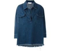 Jeansoberteil mit Poloshirt-Kragen