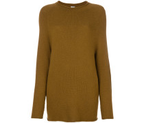 Pullover mit eingerollten Abschlüssen
