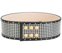 Pepita houndstooth belt