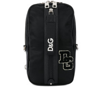 single strap logo backpack