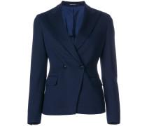 slim V-neck blazer