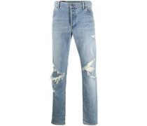 Gerippte Skinny-Jeans