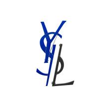 Monogram deconstructed brooch