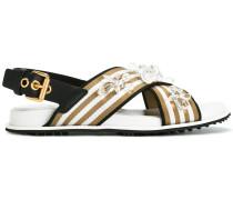 Sandalen mit verzierten Riemen - women