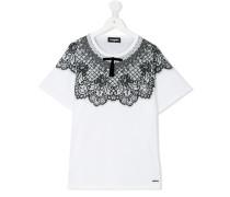 T-Shirt mit Spitzen-Details