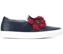 Slip-On-Sneakers mit Blumenapplikation