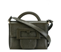 small buckle detail satchel bag