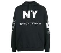"Kapuzenpullover mit ""New York""-Print"
