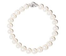 18kt Weißgoldarmband mit Perle