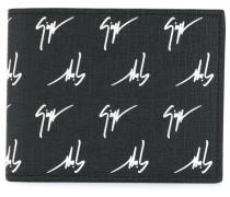logo printed billfold wallet
