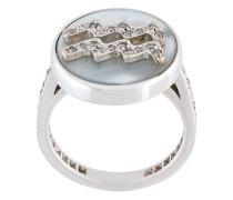 'Aquarius Lucky Zodiac' diamond ring
