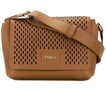 perforated shoulder bag - women - Leder