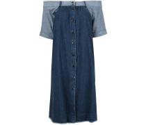 Schulterfreies Jeanskleid