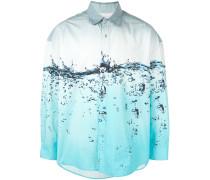 Hemd mit Flüssigkeits-Print