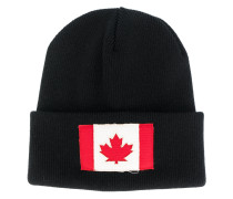 Canadian Flag patch beanie hat