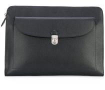 large grainy pouch - men - Baumwolle/Kalbsleder