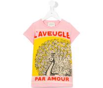 T-Shirt mit Vogelstrauß-Print