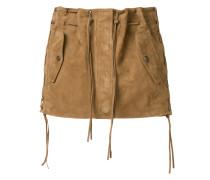 tasselled suede mini skirt
