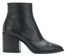 pebbled pointed ankle boots