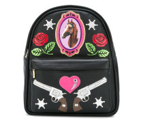 Mini-Rucksack mit Patches