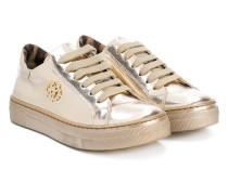 Metallic-Sneakers mit Schnürung