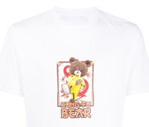 T-Shirt mit Kung-Fu-Teddy