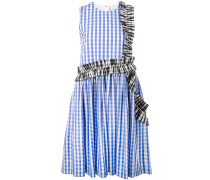 Kariertes Kleid mit Rüschen - women - Baumwolle