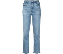 Alma high-rise straight jeans