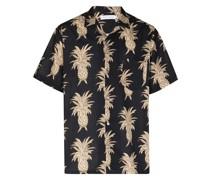 Pyjama-Oberteil mit Ananas-Print