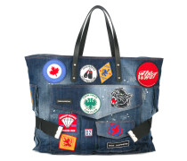 Jeans-Shopper mit Patches