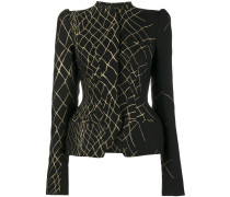 3D jacquard fitted hourglass jacket