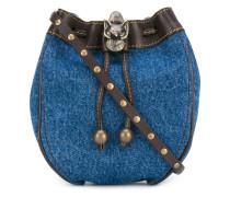 denim drawstring bag - women
