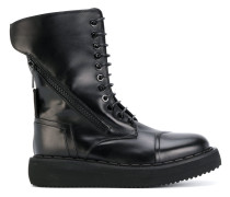 high lace up boots