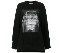 Oversized-Sweatshirt mit Kronleuchter-Print