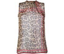 Seidentop mit Leoparden-Print