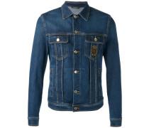 emblem patch denim jacket - men