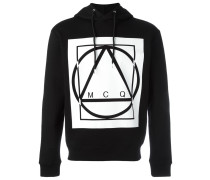 glyph icon print hoodie
