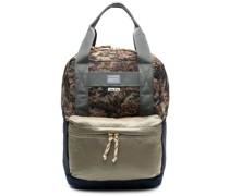 floral-print panelled backpack