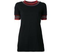 - T-Shirt mit geometrischen Stickereien - women