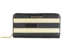 striped glittered wallet