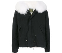 short fur-lined parka