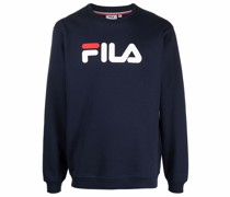 Fleece-Sweatshirt mit Logo-Print