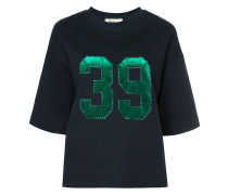 number embroidered T-shirt