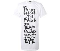 - Langes T-Shirt mit Slogan-Print - men