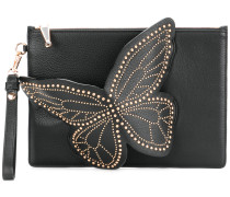studded butterfly clutch