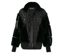 Patchwork-Jacke mit Reißverschluss
