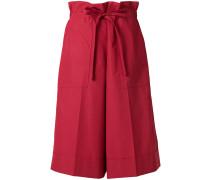 Lange Paperbag-Shorts