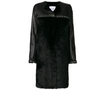 studded faux fur coat